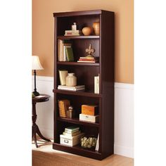 Looking to replace the bookcase and media cabinet in the office with two matching units.  This is from WalMart for $80.