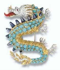 Verdura Dragon Brooch Fulco di Verdura apparently spared no expense in designing this dramatic brooch in the shape of a Chinese dragon.