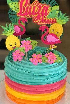 Hawaii Birthday Cake, 16 Birthday Cake, Luau Birthday, Flamingo Birthday, Flamingo Party, Pool Party Favors, Candy Party, Luau Party, Sibling Birthday Parties