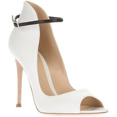 Gianvito Rossi Open Toe Bootie   ❤ liked on Polyvore (see more open toe booties)