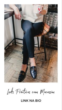 7 Awesome Business Casual Work Staples, According To Readers - Three of my personal favorite office-worthy staples: Gucci loafers (Sam Edelman has amazing budget- - Womens Fashion For Work, Work Fashion, Fashion Models, Fashion Black, Ladies Fashion, Fashion Jewelry, Women's Fashion, Black Loafers Outfit, Loafers For Women Outfit