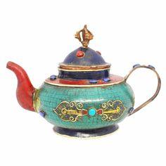 Vintage Teapots | Antique Tibetan Teapot #VintageTeapots