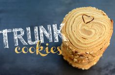 """Pixel Whisk: Spiced Trunk Cookies. Cookies that look like little tree trunks and you can """"carve"""" words and initials into them. Oh my, SO cute! This whole site is amazing!"""