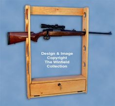 New Items - Locking Gun Rack Pattern Woodworking Projects That Sell, Woodworking Ideas, Rifle Rack, Bow Rack, Winfield Collection, Gun Art, Gun Storage, Hunting Guns, Make And Sell