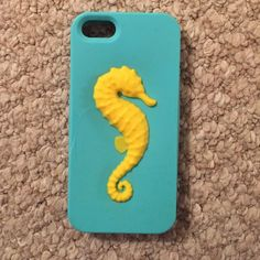 iPhone Seahorse Case Barely used iPhone case that fit my old 5C. Flexible. Silicone. Kenny Dana Accessories Phone Cases
