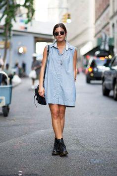 Perfectly versatile oversized shirt dress! Photos by YoungJun Koo