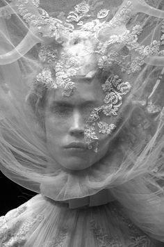☫ A Veiled Tale ☫ wedding, artistic and couture veil inspiration - Alexander McQueen