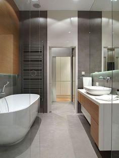 Doorloop badkamer in Pools penthouse
