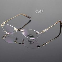 d398ddfede Gold Eyeglasses Frame Women Rimless Glasses Frame Women Spectacles Optical Prescription  Eyewear Frames Eyeglass Frames grau
