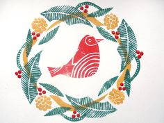 how to make your own Christmas cards- foam printing. cutting out shapes to make cards