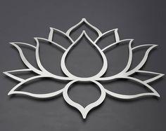 Brushed Lotus Flower Metal Wall Art, Lotus Metal Art, Lotus Flower Wall Art, Home Decor, Large Metal Wall Art, Silver Art, Metal Wall Decor