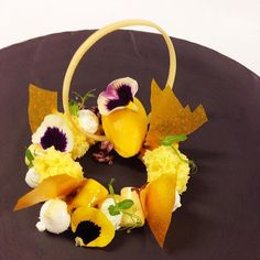 Passionfruit yuzu and mango #photoftheday#foodart#instafood#instagood#iphoneonly#gastroart#foodporn#theartofplating#gourmetartistry#foodpics#foodstarz#dontshootthechef#ChefsTalk#chefsofinstagram