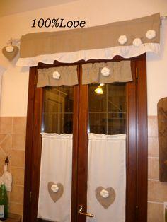 Mantovana con pieghe e cuoricini....   cucito   Pinterest   Curtain ...