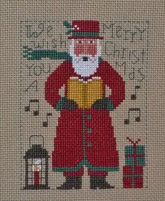 Prairie Schooler Counted Cross Stitch Yearly Santa's 1985-2015 #PrairieSchooler