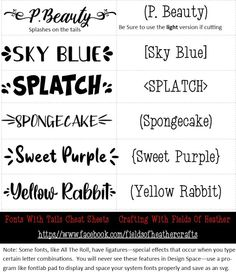 Fonts With Tails (Glyphs) Cheat Sheet Lettering Tutorial, Hand Lettering, Glyph Font, Aesthetic Fonts, Font Packs, Word Fonts, Cute Fonts, Character Map, Cricut Craft Room