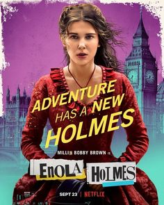 New Movie Posters for Enola Holmes Enola Holmes, Millie Bobby Brown, Love U So Much, My Idol, Netflix, Beloved Book, Finishing School, See Movie, Helena Bonham Carter