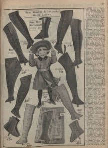 "New York City's latest fall and winter styles for 1906-1907: catalogue no. 42 /Siegel Cooper Co., 1906. . Trade Catalogs. The Metropolitan Museum of Art, New York. Thomas J. Watson Library. (b17346654) | A selection of ""Winter Leggins"" from the 1906-7 Siegel Cooper Co. catalog. #winter"