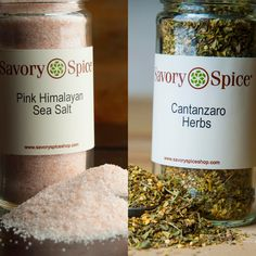 The dust has settled and we have 2 winners!  Both Cantanzaro Herbs ($1.88) and Pink Himalayan Sea Salt ($3.18) are on sale! That's 50% off regular price. Stop into any of our Savory Spice locations or order online here: