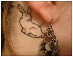 Bunny rabbit tattoo