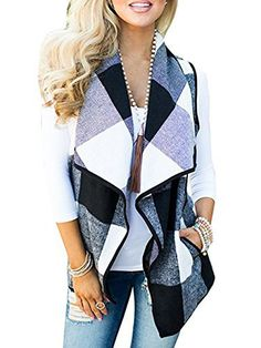 "Product review for Famulily Women's Sleveless Plaid Vest Lapel Open Front Cardigans with Pocket.  Famulily Women's Sleveless Plaid Vest Lapel Open Front Cardigans with Pocket Classic Plaid Pattern Big Lapel Design Draped Open Front Style No Lining   	 		 			 				 					Famous Words of Inspiration...""Love is the word used to label the sexual excitement of the young, the habituation..."