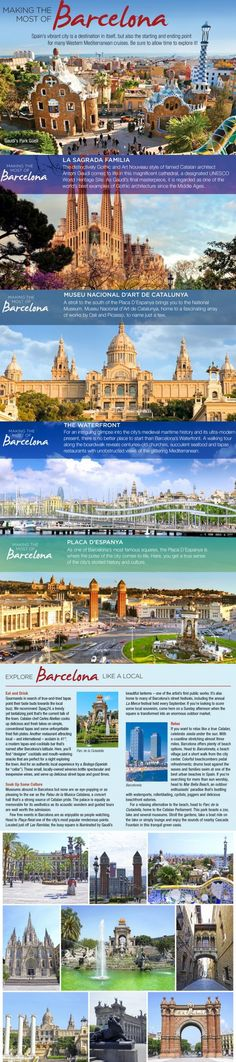 Barcelona Must See Sites & travel tips. Barcelona, Spain's second-largest city, is inextricably linked to the architecture of Antoni Gaudi. His most famous and unfinished masterpiece, La Sagrada Familia, is the emblem of the city. We share travel tips and top attractions when visiting Barcelona.