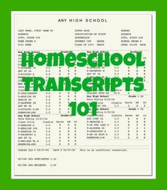 Homeschool Transcripts 101 | LetsHomeschoolHighschool.com