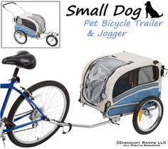 Small dog bike trailer and stroller combo
