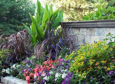Perennial bed with beautiful color mix; by mkw4114, via Flickr