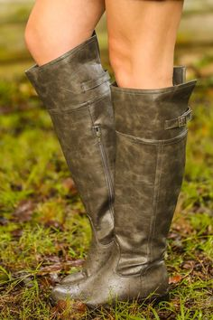 Wild Horses Riding Boots-Taupe/Gray- Red Dress Boutique
