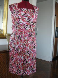 StyleArc Heather dress pattern in cotton sateen.