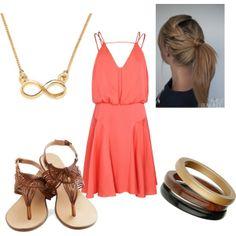 I have a similar dress. Cute summer accessories.