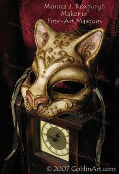 Swirly cat mask by Monica J. Roxburgh, GoblinArt.com