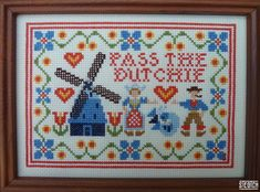 """Trees of Holland by steotch on Etsy, $149.00. """"This beautiful handmade sampler will bring a sense of calm and well being to your home. Relax and enjoy it on your own, or share with friends on the left hand side."""""""
