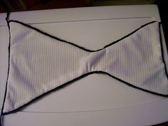 Basic how-to sew a liner into a crochet bikini bottom