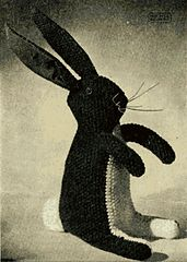 Vintage 1940s knit rabbit pattern (free) from Patons