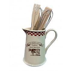 Pichet Porte-ustensiles AU BON LAIT déco campagne et tradition Utensil Holder, Catalog, Mugs, Tableware, Kitchen, Provence, Butcher Shop, Search, Dinnerware