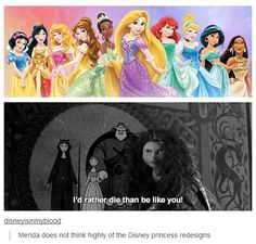 I agree, Merida.  I HATE the new designs!!!  Too much sparkle on princesses that weren't sparkly.