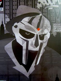 MF Doom Classic Comic Book Digital Art Print by taylorlindgrenart, $20.00