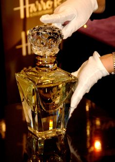 """Clive Christian  no-1 parfum """"imperial majesty editio"""" on display at Harrod's department store in London, England UK"""