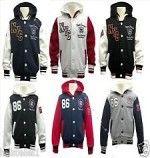 I Want to Buy Boy's Hooded Baseball Jacket