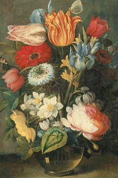 Osias Beert  Flowers in a Glass Vase  17th century