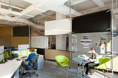 Studio space - Herman Miller canvas workstations with Aeron chairs