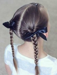 Braided Hair Bliss Little Girl Hairstyles Peinados NiÃas In 2019 - braided pigtail hairstyles for girls casual braids hairstyle