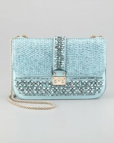 Glam Lock Flap Shoulder Bag by Valentino at Neiman Marcus.