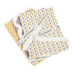 3 VINTAGE cotton tea towels