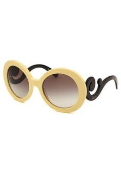46a3eb8d293e8 NEW Authentic Prada SPR27N-DG3-OA7 Womens MINIMAL BAROQUE Pale Yellow  Sunglasses