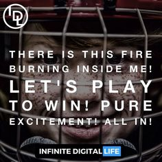 There is this fire burning inside me! Let's play to win! Pure Excitement! All in! Tag your friends who need to see this! Double tap if you agree! Follow me for daily Inspiration!  @infinite_digital_life  @infinite_digital_life