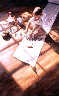Steve Hanks   Young at Art  Watercolour....è un incanto ammirarlo...somiglia al mio Christian