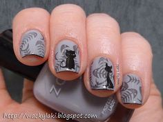 My today's post is all about cats and those cats' lovers who want to apply cat nail patterns as they are truly in fashion, here comes a collection of amazing black cat nail art designs & ideas of Cat Nail Art, Funky Nail Art, Cat Nails, Best Nail Polish, Nail Stamping, Stamping Plates, Fabulous Nails, Nail Stickers, Nail Tutorials