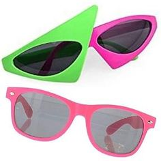 What style sunglasses in style in the eighties?